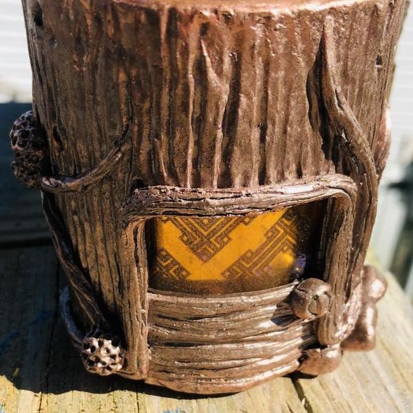 Fairy House Hide-a-Key Planter Votiveholder Handmade Pottery